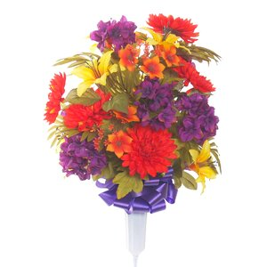 Signature Round Mixed Mum Floral Vase Arrangement
