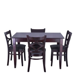 Mignone 5 Piece Solid Wood Dining Set Bloomsbury Market