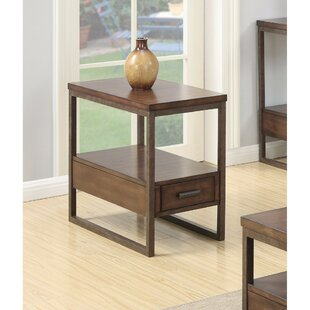 Pecor Elegant Wooden End Table