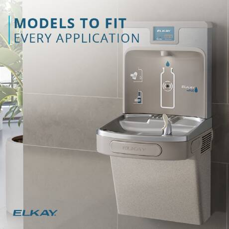 Elkay Bottleless Countertop Room Temperature and Cold Electric Water Cooler