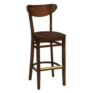 Amoroso Beechwood Moon Shape Back Wood Seat Bar Stool