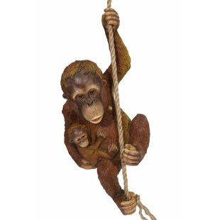 Evins Orangutan With Baby On Rope Statue By Bloomsbury Market