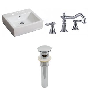 Looking for Ceramic Rectangular Vessel Bathroom Sink with Faucet and Overflow ByAmerican Imaginations