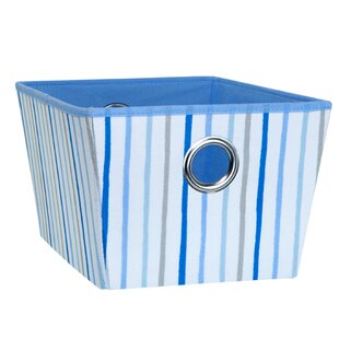 Painterly Stripe Fabric Cube or Bin by Laura Ashley