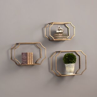 Akshata 3 Piece Wall Glass Shelf Set