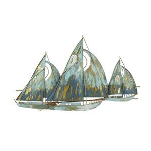 Sailboat Wall Art nautical metal wall art you'll love | wayfair