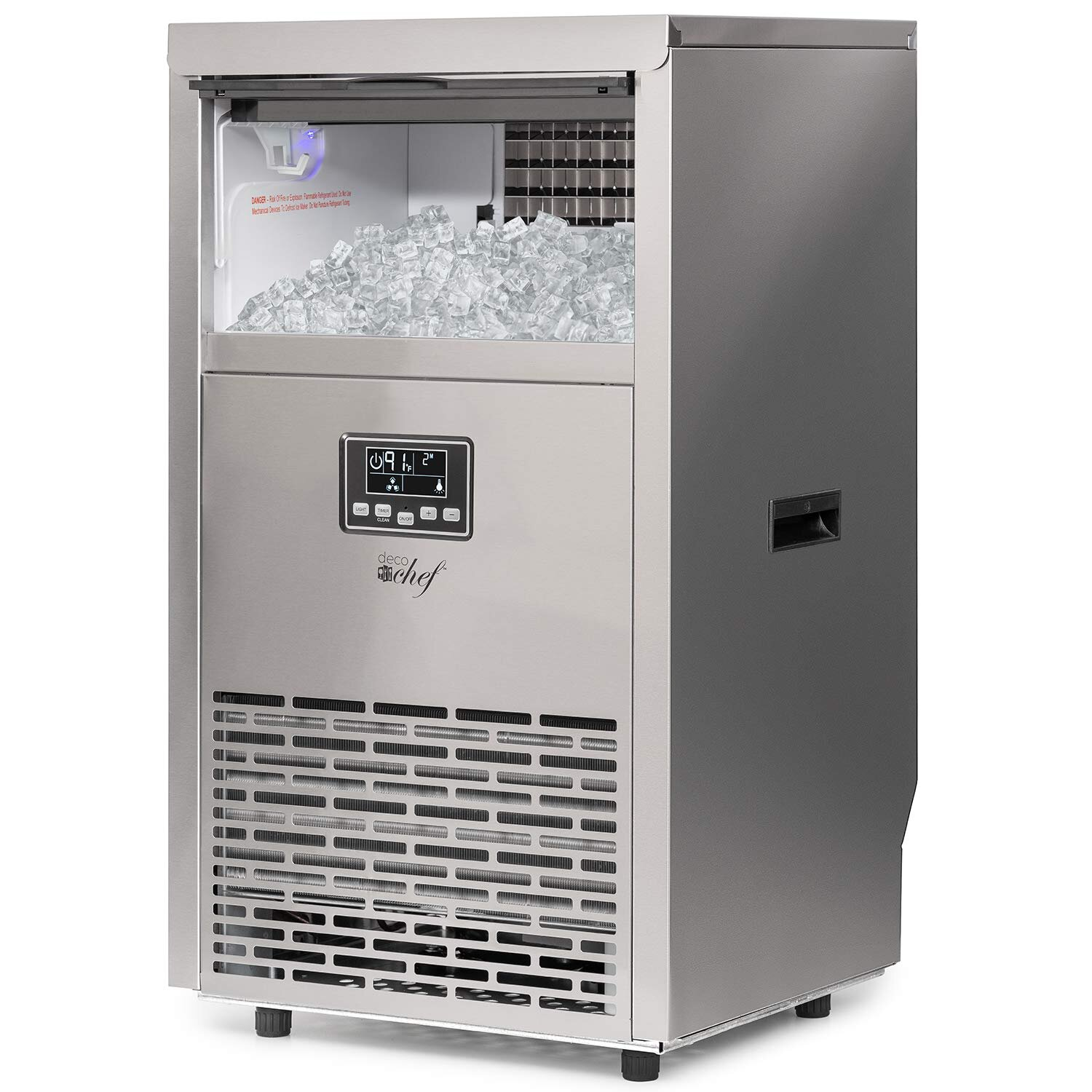 88 LBS//24H Automatic Freestanding Ice Machine Undercounter Bars Includes Scoop and Connection Hose Homes and Offices Joy Pebble Commercial Ice Maker Ideal for Restaurants