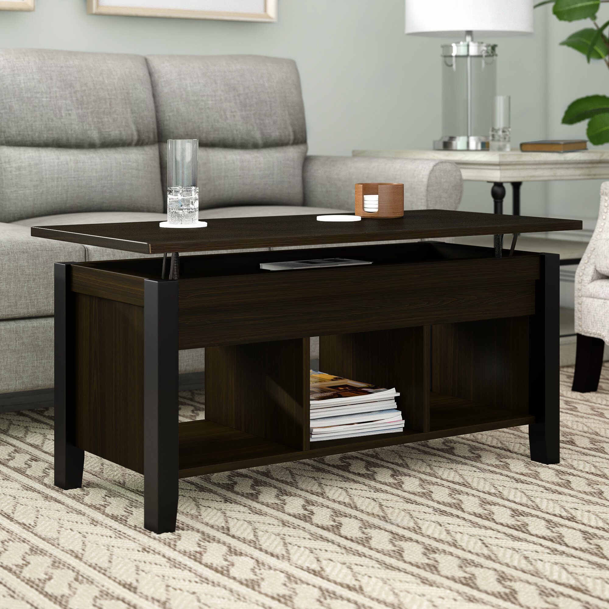 Beige Wood Lift Top Coffee Tables You Ll Love In 2021 Wayfair