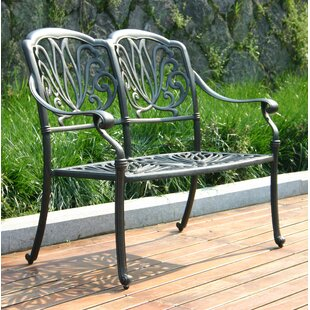 Mestas Aluminum Park Bench (Set of 2)