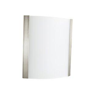 Reviews Elmira 1-Light LED Flush Mount By Ebern Designs