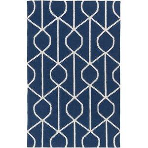 York Ellie Hand-Woven Blue Area Rug