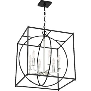 Wrought Studio Theobald 6-Light Square/Rectangle Chandelier