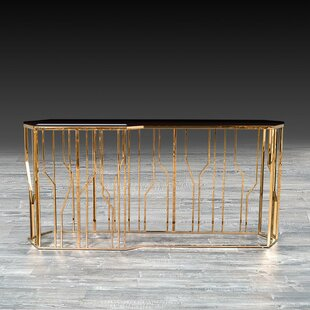 Luciana Glass Console by Everly Quinn No Copoun