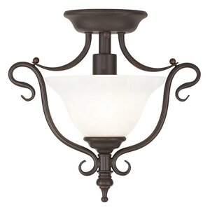 Lewisboro 1-Light Semi Flush Mount