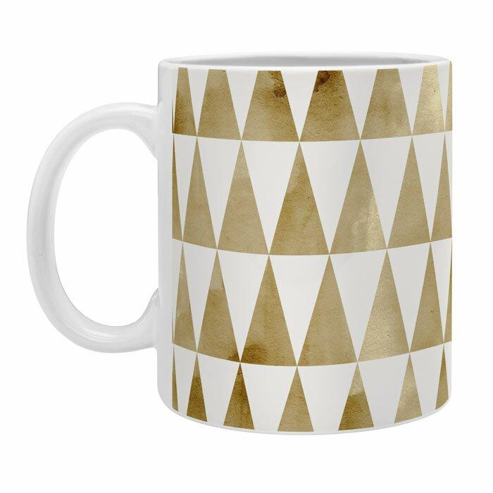 East Urban Home Triangle Pattern Coffee Mug Wayfair