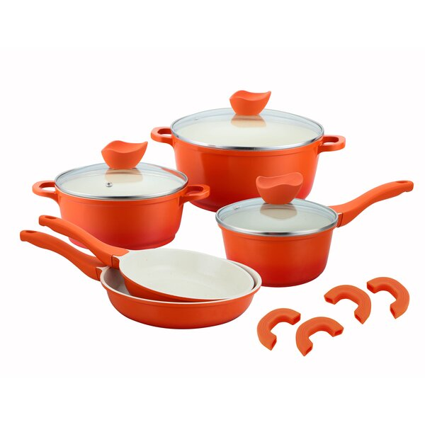 Culinary Edge 8 Pieces Aluminum Non Stick Cookware Set Reviews Wayfair