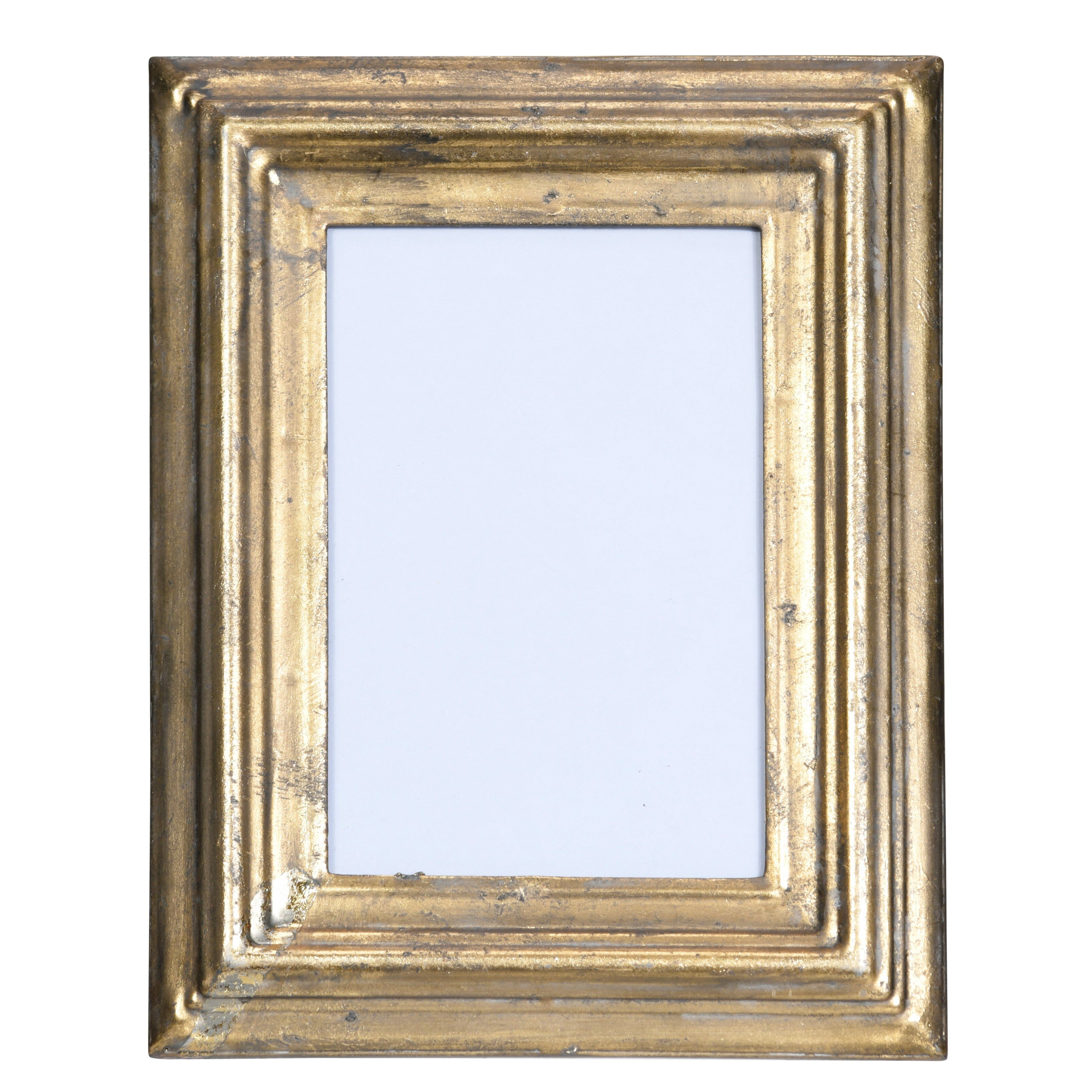 4x6 Brushed Metal Picture Frame-I love my Greyhound-Silver