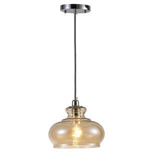 Gracie Oaks Garwood 1-Light Bell Pendant
