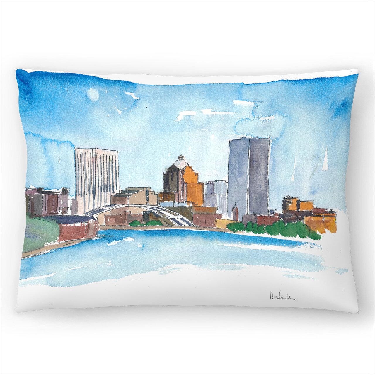 East Urban Home Rochester New York Skyline Lumbar Pillow Wayfair