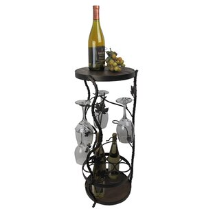 French Vineyard 7 Bottle Floor Wine Rack