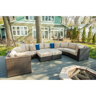 Darden 8 Piece Sectional Seating Group with Cushions by Rosecliff Heights