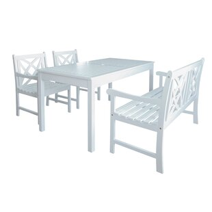 Mahler Outdoor 4 Piece Dining Set