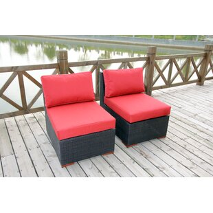 Bay Isle Home Scholtz Deep Seating Chair with Cushion (Set of 2)