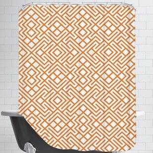 Modern Geometric Single Shower Curtain