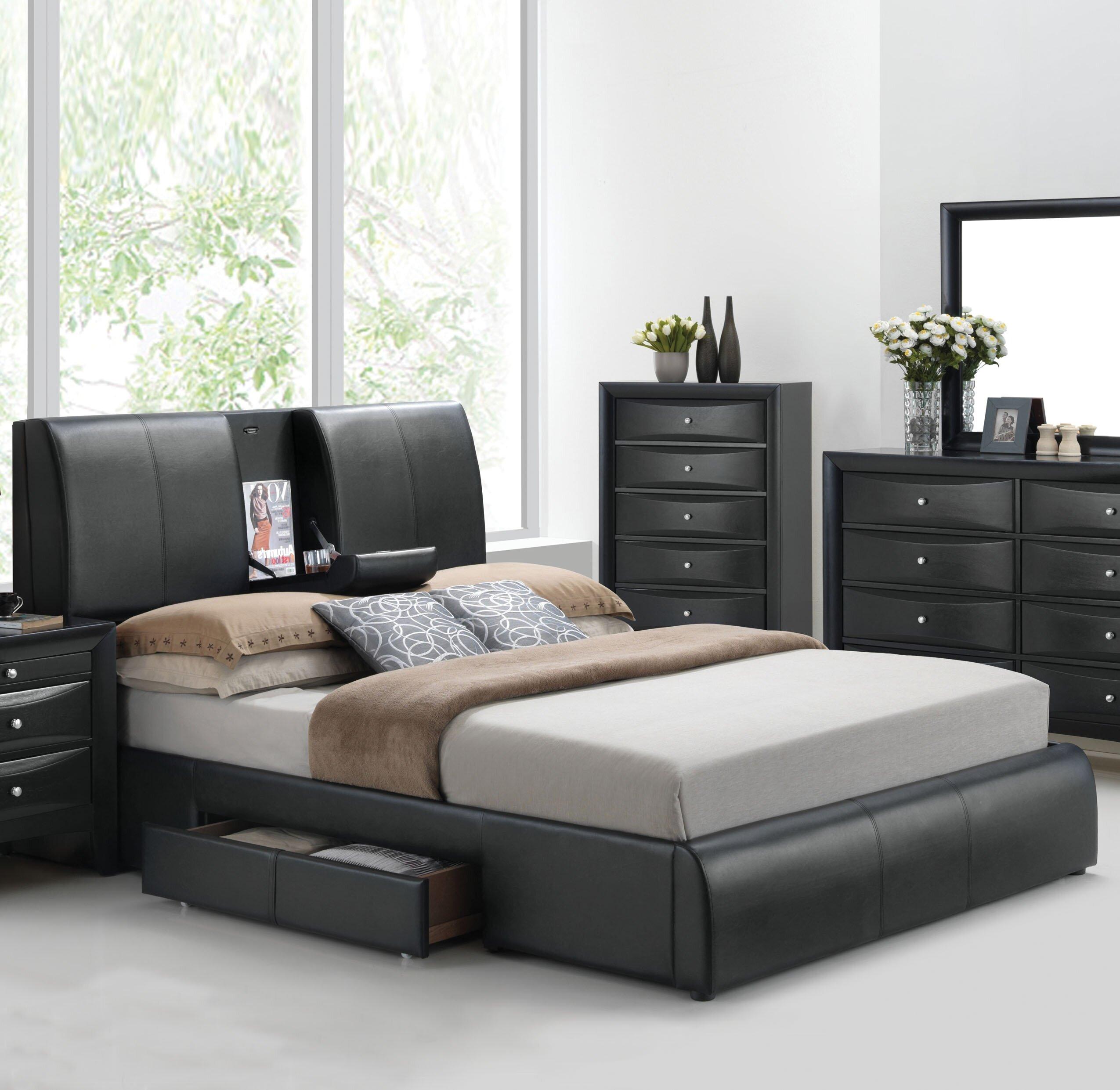 Orren Ellis Horsley Upholstered Storage Platform Bed Reviews Wayfair
