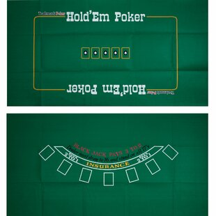 Texas Hold 'Em Two Sided Layout by Trademark Global