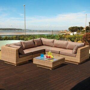 5-Sitzer Sofa-Set Chicago aus Rattan von Home Lo..
