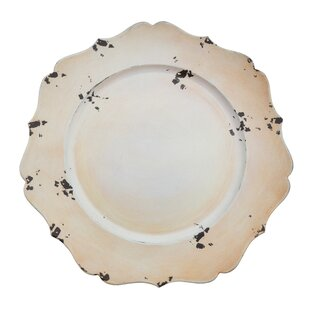 Postma Rustic Scalloped Edge Charger Plate (Set of 4)