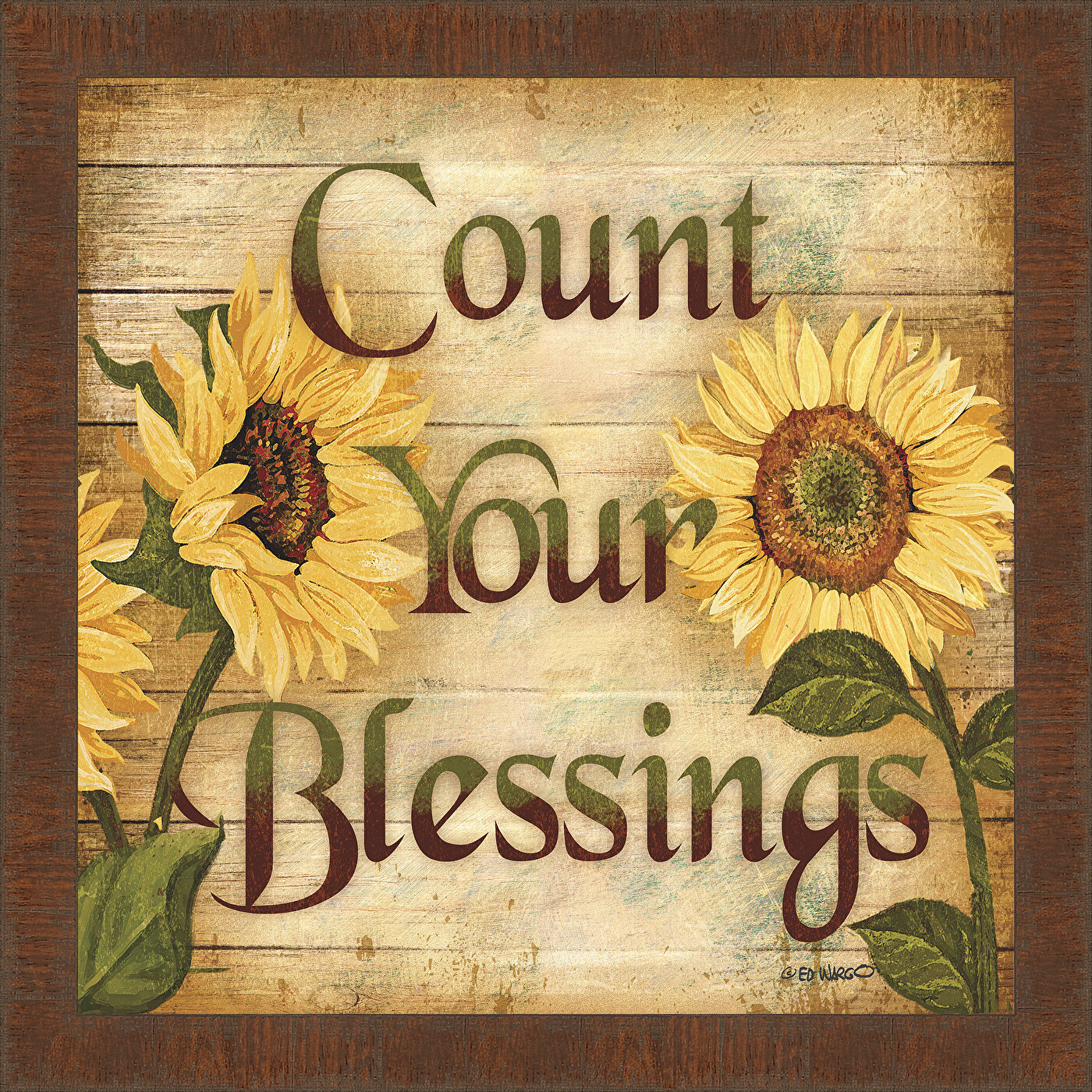 Winston Porter Count Your Blessings Square Framed Textual Art Reviews Wayfair