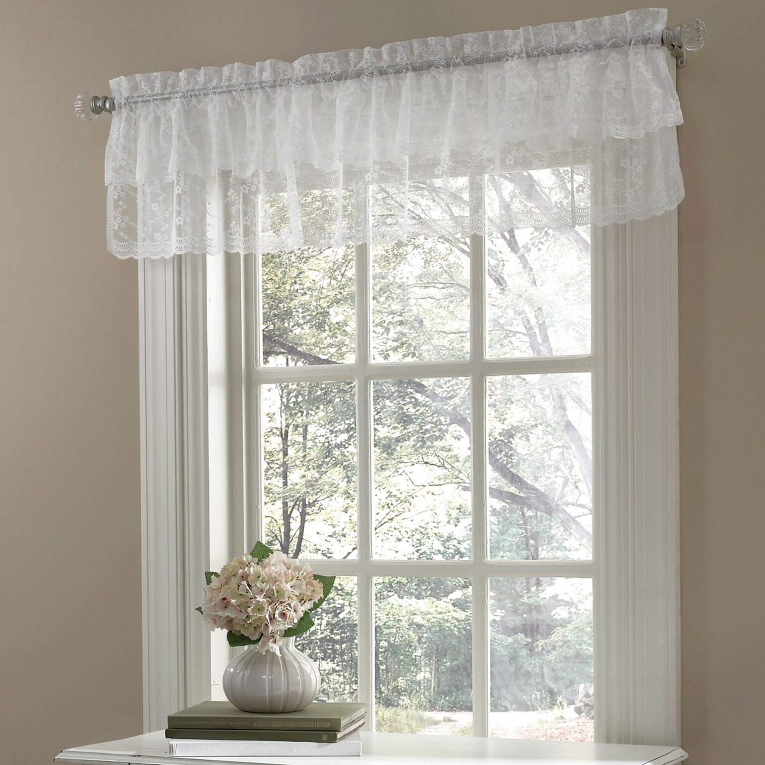 60-Inch by 12-Inch American Curtain and Home Deanna Window Treatment Valance Natural