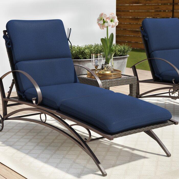 Admirable Indoor Outdoor Sunbrella Chaise Lounge Cushion Machost Co Dining Chair Design Ideas Machostcouk