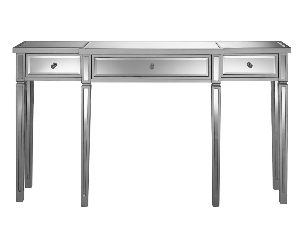 Mirrored console tables youll love wayfair aguila console table geotapseo Gallery
