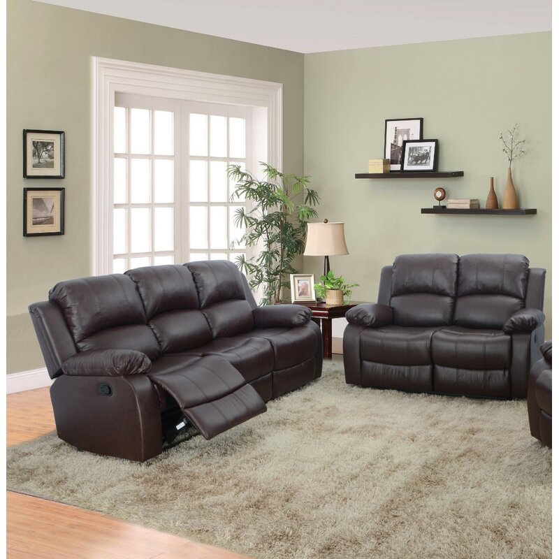Red Barrel Studio® Hartranft 2 Piece Faux Leather Reclining Living