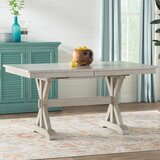 Rutledge Rubberwood Solid Wood Dining Table by Rosecliff Heights