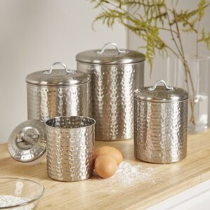Perfect Cohagen 4 Piece Kitchen Canister Set