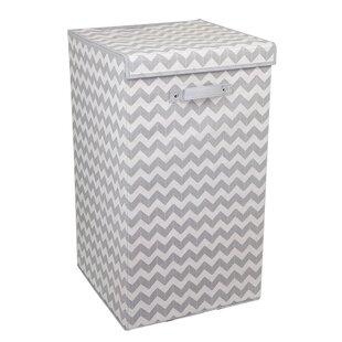 Best Reviews Chevron Folding Laundry Hamper ByEbern Designs