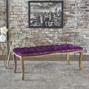 Ophelia & Co. Samaira Velvet Upholstered Bench