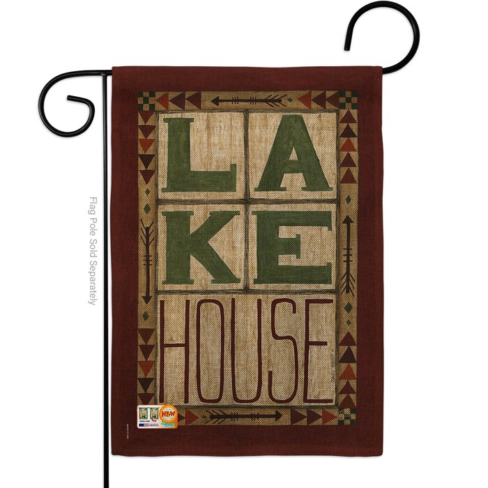 Lake House Burlap Nature Outdoor Impressions 2 Sided Polyester 1 5 X Ft Garden Flag
