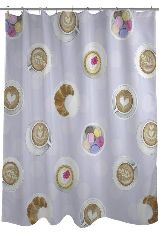 Merveilleux Mini Coffee Cupcake Macaroons Shower Curtain