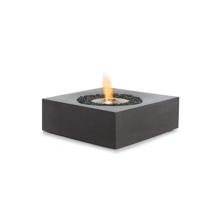 Solstice Concrete Bio Ethanol Fuel Fire Pit Table