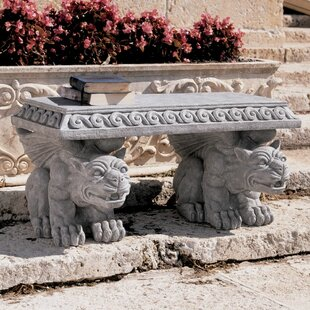 Blair Castle Gargoyle Stone Garden Bench by Design Toscano
