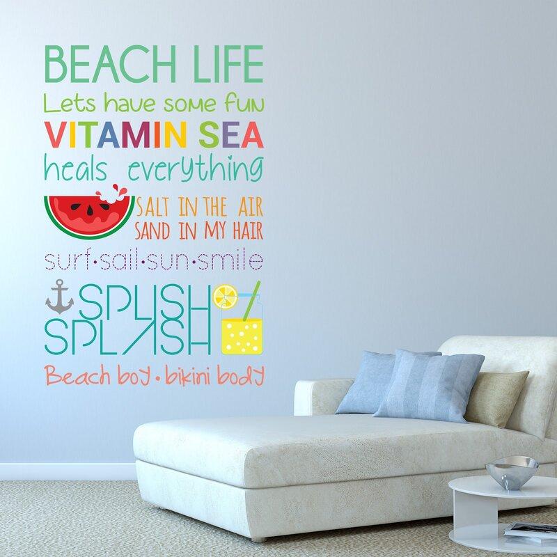Ebern Designs Beach Quotes Wall Decal Wayfair