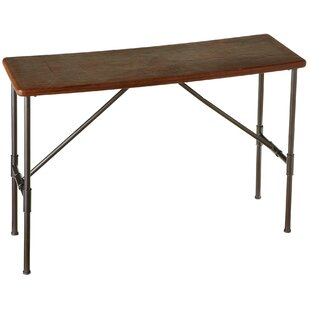 Gracelynn Leather Top Console Table