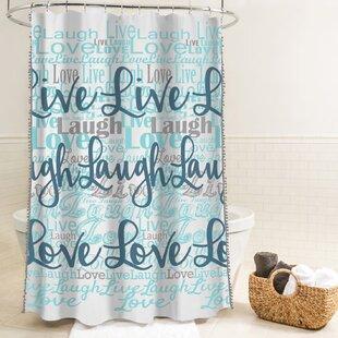 Buying McSheffrey Bath Live Laugh Love Fabric Shower Curtain ByEbern Designs