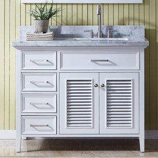 Hamil Right Offset 43 Single Bathroom Vanity Set With Mirror