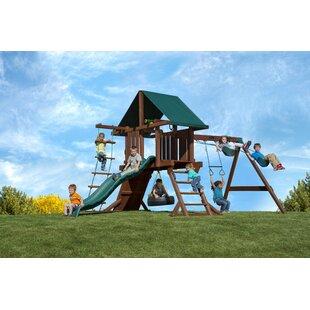 Kids Creations Redwood Two Ring Adventure Swing Set